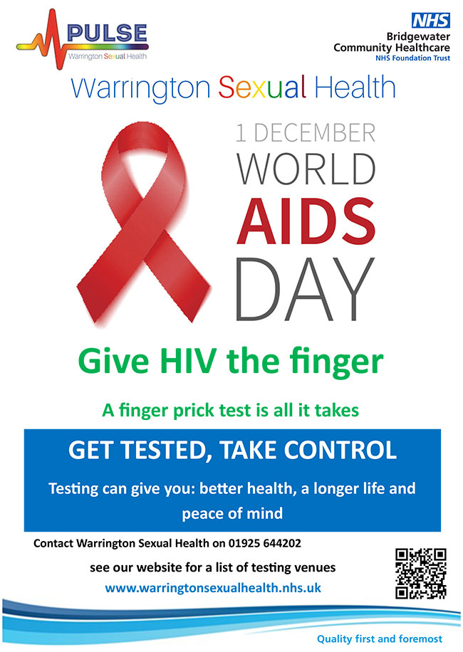 1st December World Aids Day. Gove HIV the finger.